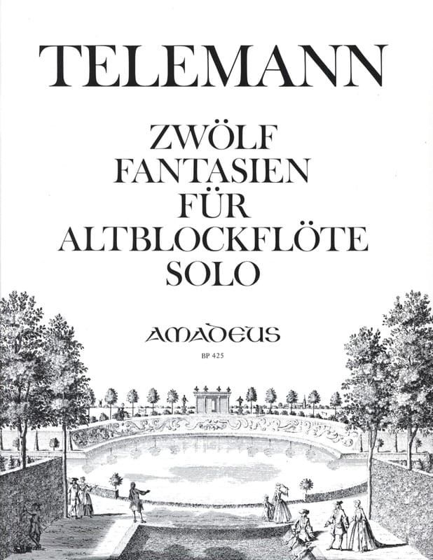 12 Fantasien - Altblockflöte solo - TELEMANN - laflutedepan.com