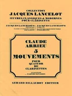 5 Mouvements - Parties et Conducteur Claude Arrieu laflutedepan
