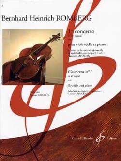 Bernhard Romberg - Concerto No. 1 in B Flat Major Op. 2 - Partition - di-arezzo.co.uk