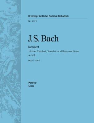 Konzert für 4 Cembali a-moll BWV 1065 - Conducteur BACH laflutedepan