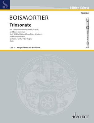 Triosonate G-Dur -2 Altblockflöten Bc BOISMORTIER laflutedepan