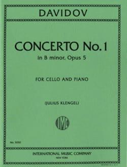 Concerto n° 1 op. 5 si mineur Charles Davidoff Partition laflutedepan