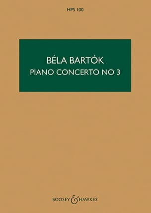 Piano Concerto n° 3 - Score BARTOK Partition laflutedepan