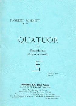 Quatuor pour Saxophones op. 102 - Conducteur - laflutedepan.com