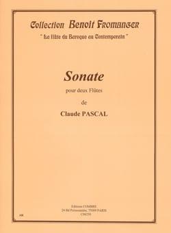 Sonate pour 2 flûtes Claude Pascal Partition laflutedepan