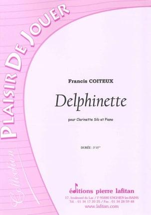 Delphinette Francis Coiteux Partition Clarinette - laflutedepan