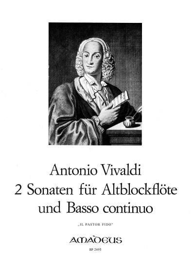 2 Sonaten - Il Pastor Fido - Altblockflöte u. Bc - laflutedepan.com