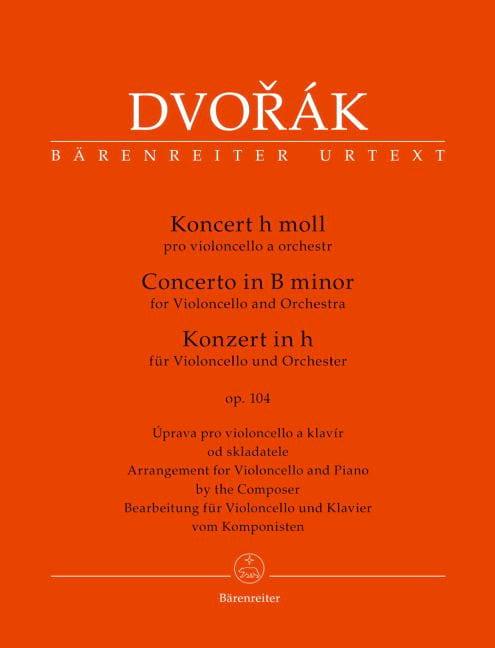Concerto Pour Violoncelle en Si Mineur. Opus 104 - laflutedepan.com