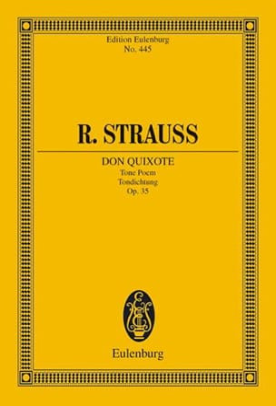 Don Quixote Richard Strauss Partition Petit format - laflutedepan