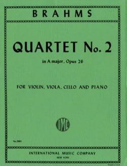 Quartet n° 2 A major op. 26 -Parts BRAHMS Partition laflutedepan