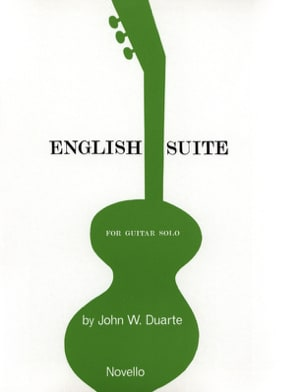 English Suite - Guitar solo John W. Duarte Partition laflutedepan