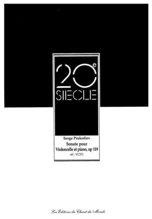 Sonate op. 119 pour violoncelle et piano PROKOFIEV laflutedepan