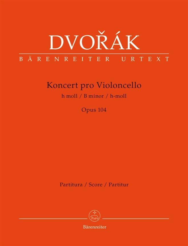 Concerto en Si Min. Opus 104 - Conducteur - DVORAK - laflutedepan.com