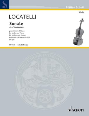 Sonate le Tombeau - Violon et piano LOCATELLI Partition laflutedepan
