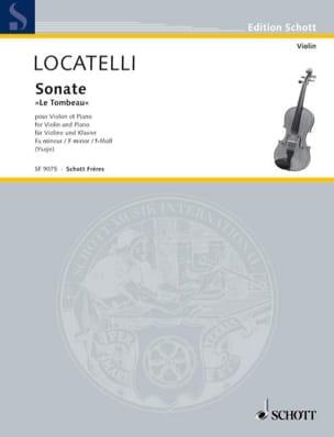 Sonate le Tombeau - Violon et piano LOCATELLI Partition laflutedepan