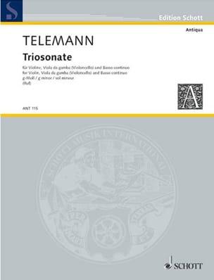 Triosonate En Sol Mineur TELEMANN Partition Trios - laflutedepan