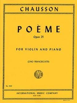 Poème op. 25 Francescatti CHAUSSON Partition Violon - laflutedepan