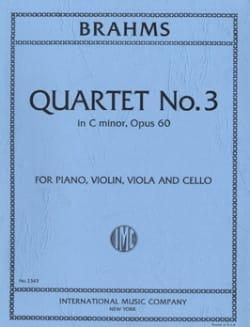 Quartet n° 3 C minor op. 60 -Parts BRAHMS Partition laflutedepan