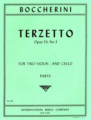 Terzetto op. 54 n° 3 -Parts BOCCHERINI Partition Trios - laflutedepan