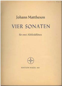 Vier Sonaten - 2 Altblockflöten Johann Mattheson laflutedepan