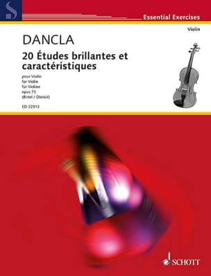 DANCLA - 20 Brilliant Studies and Features, op. 73 - Violin - Partition - di-arezzo.co.uk