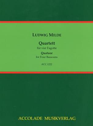 Quartett (Partitur & Stimmen) Ludwig Milde Partition laflutedepan