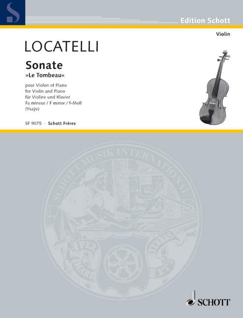Sonate le Tombeau - Violon et piano - LOCATELLI - laflutedepan.com
