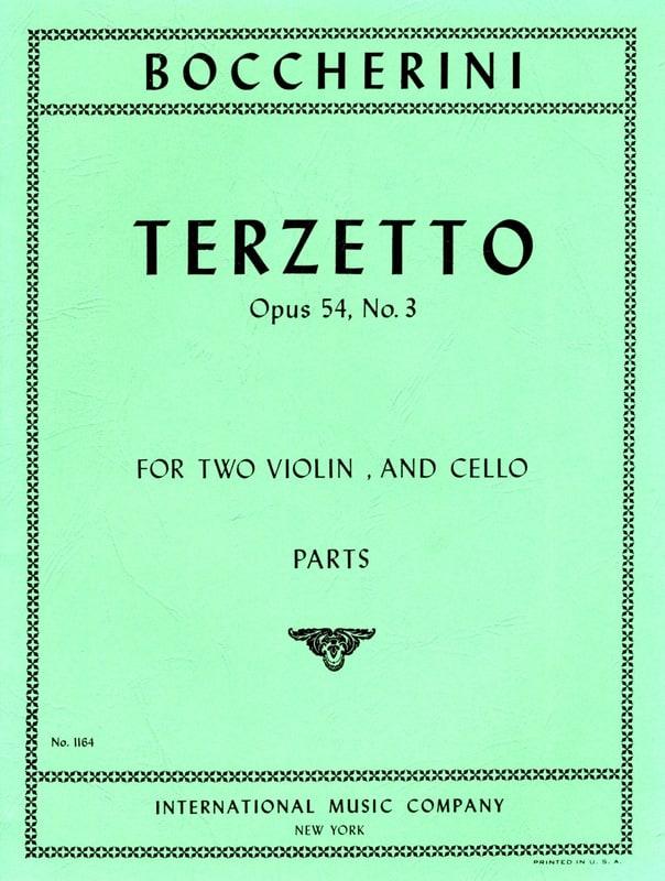 Terzetto op. 54 n° 3 -Parts - BOCCHERINI - laflutedepan.com