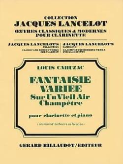 Fantaisie variée Louis Cahuzac Partition Clarinette - laflutedepan