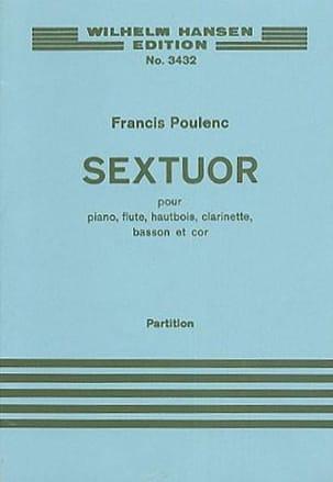 Sextuor - Partitur POULENC Partition Petit format - laflutedepan