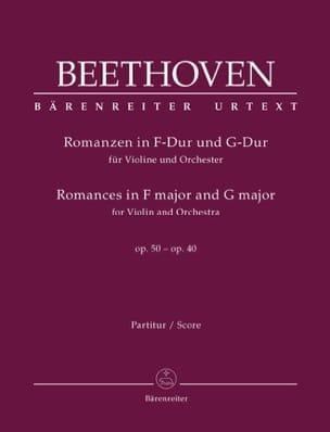 Romances en Fa Majeur Op.50 et Sol Majeur Op.40 BEETHOVEN laflutedepan