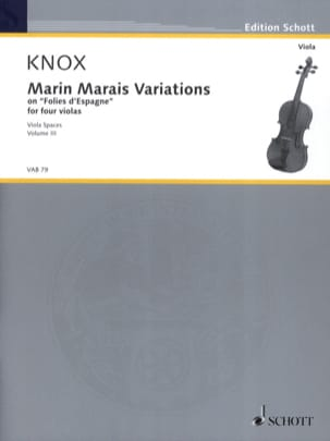 Marin Marais Variations Garth Knox Partition Alto - laflutedepan