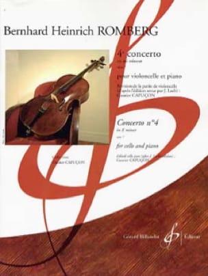 Concerto n° 4 en mi mineur op. 7 - ROMBERG - laflutedepan.com
