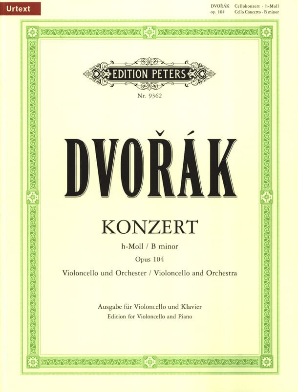 Concerto pour Violoncelle Si Mineur, Op.104 - laflutedepan.com