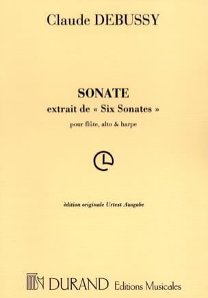 Sonate pour flûte, alto et harpe - Parties DEBUSSY laflutedepan