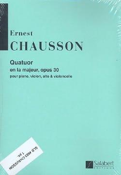 Quatuor la majeur op. 30 -Parties CHAUSSON Partition laflutedepan