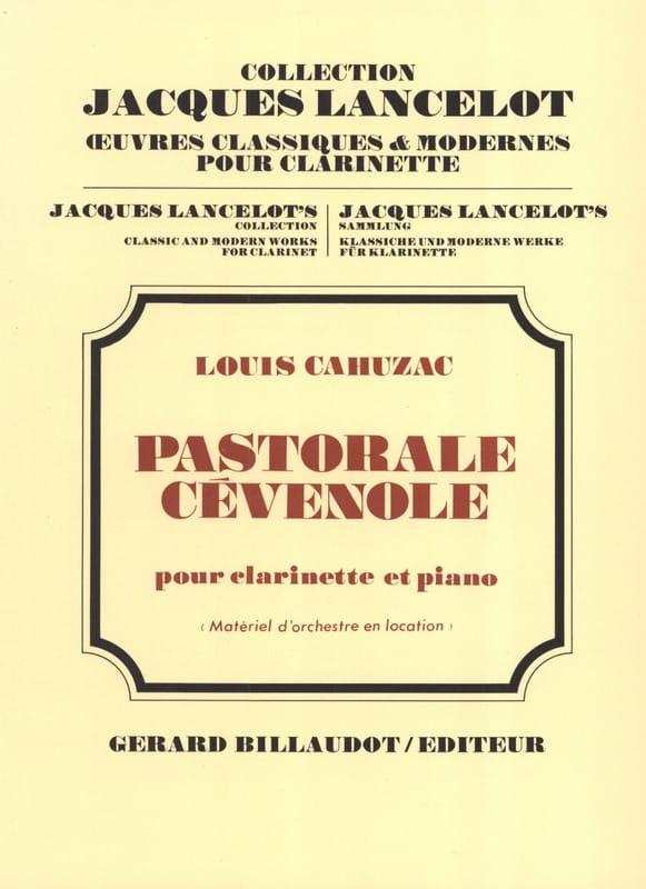 Pastorale cévenole - Louis Cahuzac - Partition - laflutedepan.com