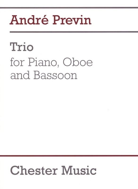 Trio -Piano Oboe Bassoon - André Prévin - laflutedepan.com