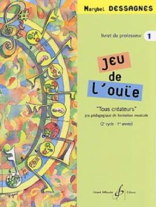 Jeu de L'ouïe Volume 1 - Prof - Marybel Dessagnes - laflutedepan.com