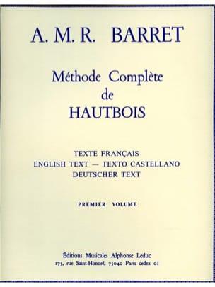 Méthode complète de hautbois - Volume 1 A. M. R. Barret laflutedepan