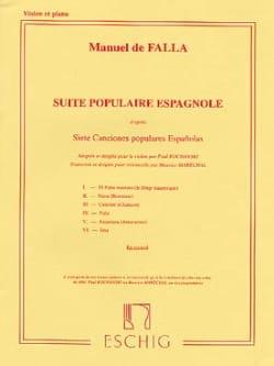 Suite Populaire Espagnole DE FALLA Partition Violon - laflutedepan