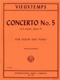 Henri Vieuxtemps - Violinkonzert Nr. 5 a-Moll op. 37 - Partition - di-arezzo.de