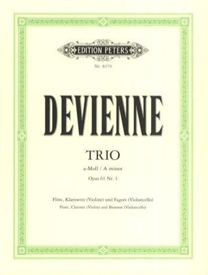 Trio a-moll op. 61 n° 3 -Flöte Klarinette Fagott - Stimmen - laflutedepan.com