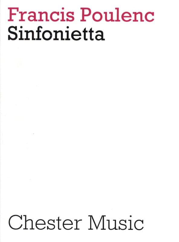 Sinfonietta - Score - POULENC - Partition - laflutedepan.com