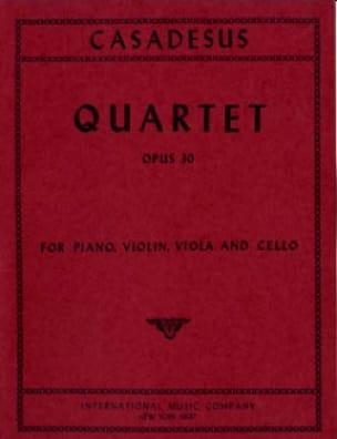 Quartet op. 30 - CASADESUS - Partition - Quatuors - laflutedepan.com