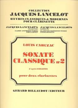 Sonate classique n° 2 Louis Cahuzac Partition laflutedepan