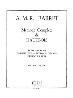 Méthode complète de hautbois - Volume 2 A. M. R. Barret laflutedepan