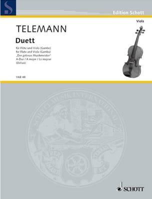 Duett A-Dur - Flöte u. Viola o. Gambe TELEMANN Partition laflutedepan