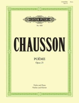 Poème op. 25 Flesch CHAUSSON Partition Violon - laflutedepan