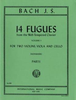 14 Fugues - Volume 1 - 2 violins viola cello BACH laflutedepan